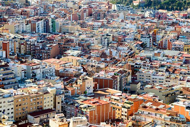 Viewed from above Barcelona houses:スマホ壁紙(壁紙.com)
