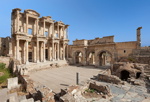 Ancient Civilization「The Library of Celus, Ephesus, Turkey」:スマホ壁紙(15)