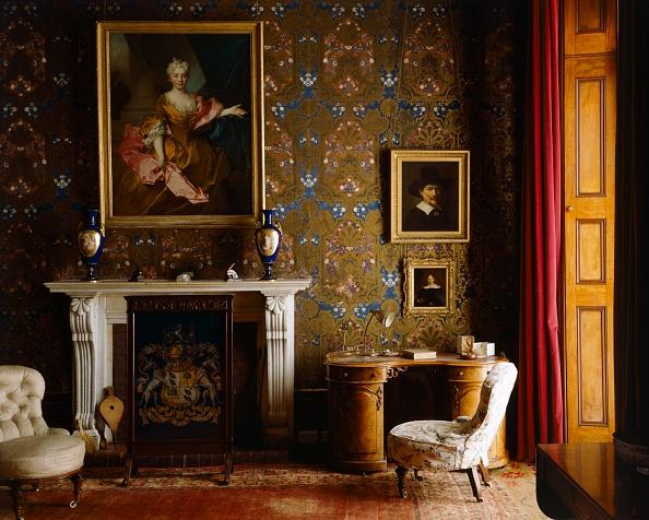 Mansion「The library, Brodsworth Hall, South Yorkshire, c2000s(?)」:写真・画像(12)[壁紙.com]