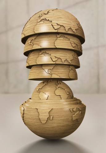 Doll「Wooden world globe resembling russian dolls」:スマホ壁紙(4)