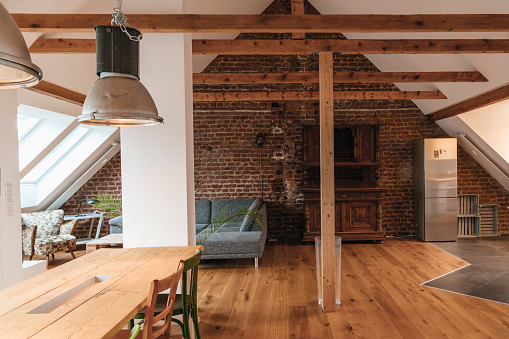 Architectural Feature「Indoor view of a loft」:スマホ壁紙(15)