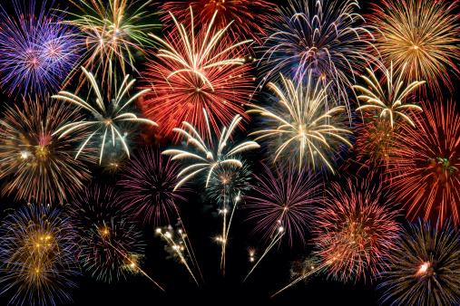 New Year「Fireworks Group」:スマホ壁紙(12)