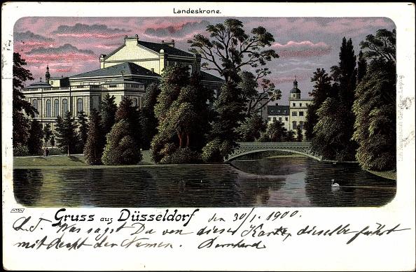 1900「Litho Düsseldorf, Teichpartie an der Landeskrone, 1900」:写真・画像(15)[壁紙.com]