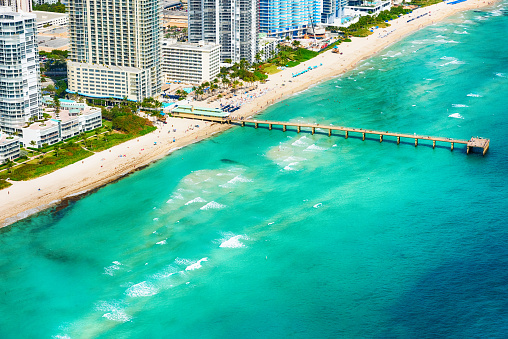 Miami Beach「North Miami Beach Pier From Above」:スマホ壁紙(3)