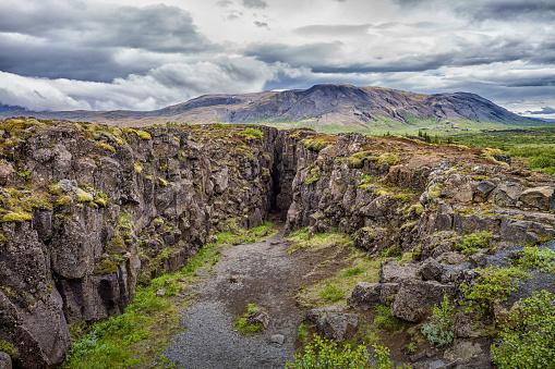 地質構造「Rural landscape, Azingvellir National Park, Iceland」:スマホ壁紙(14)