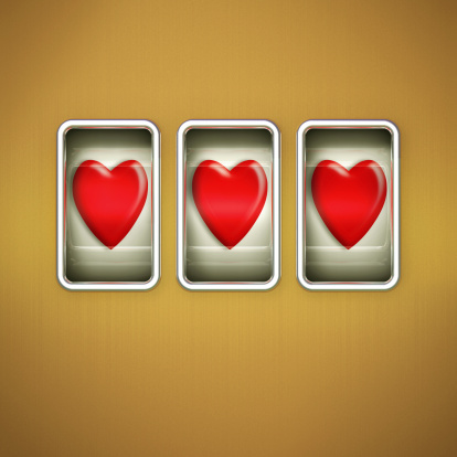 Love fortune「3 Hearts on a Slot Machine Display」:スマホ壁紙(10)