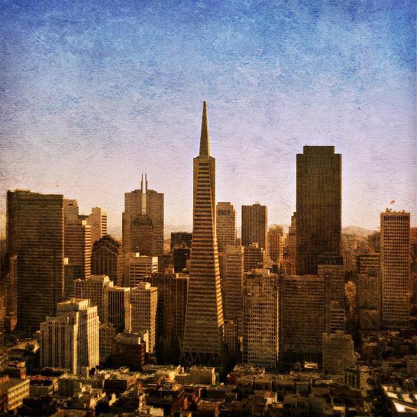 Urban Skyline「The Transamerica Pyramid in San Francisco, California, USA (painterly)」:写真・画像(11)[壁紙.com]