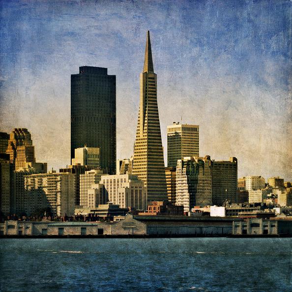 Urban Skyline「The Transamerica Pyramid, San Francisco, California, USA (painterly)」:写真・画像(19)[壁紙.com]