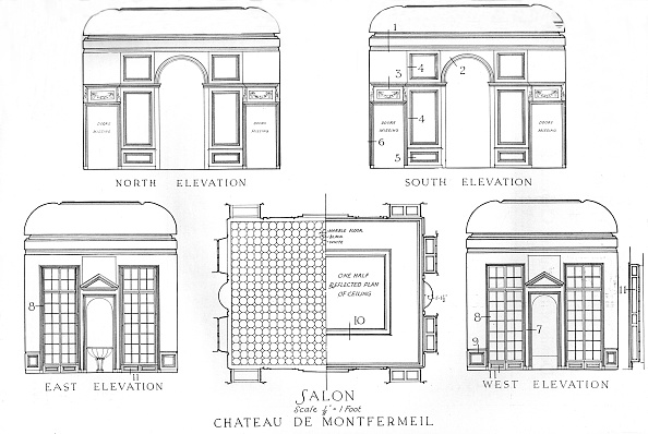 Architecture「Details Of The Salons, Chateau De Montfermeil, Paris, 1924」:写真・画像(3)[壁紙.com]