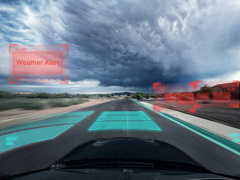 Internet of Things「Self driving autonomous car driving in bad weather, USA」:スマホ壁紙(16)
