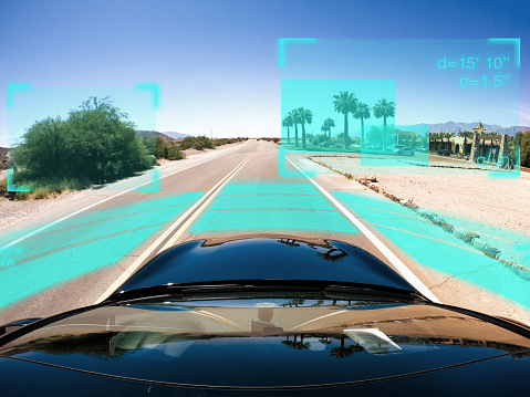 Internet of Things「Self driving autonomous car driving in bad weather, USA」:スマホ壁紙(4)
