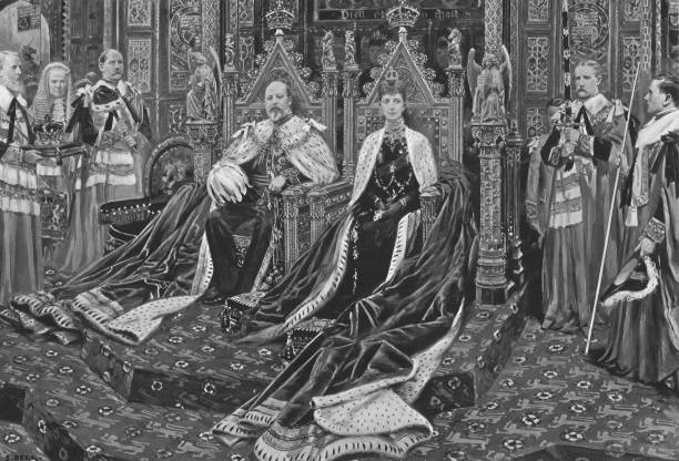 King Edward Vii And Queen Alexandra At The Opening Of His Majestys First Parliament:ニュース(壁紙.com)