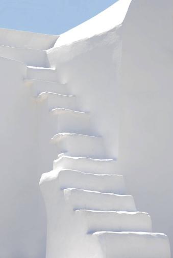 Greece「White steps and blue sky, Cyclades, Greece」:スマホ壁紙(9)