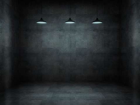 Architectural Feature「Dark, scar, empty office room」:スマホ壁紙(2)