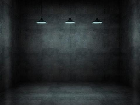 Spooky「Dark, scar, empty office room」:スマホ壁紙(7)