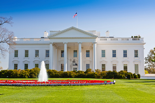 Politics「The North Portico of the White House, Washington DC, USA.」:スマホ壁紙(19)