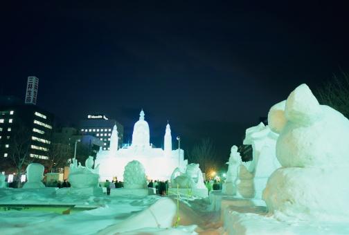 雪まつり「Snow Festival, Sapporo, Hokkaido, Japan」:スマホ壁紙(5)