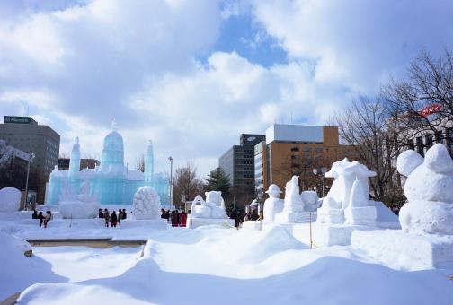 雪まつり「Snow Festival, Sapporo, Hokakido, Japan」:スマホ壁紙(4)