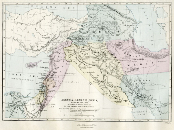 Middle East「Map of Assyria, Armenia, Syria and the adjacent lands」:写真・画像(18)[壁紙.com]