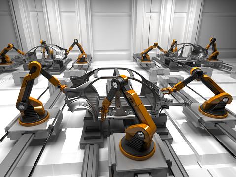Robot Arm「Car Plant」:スマホ壁紙(18)