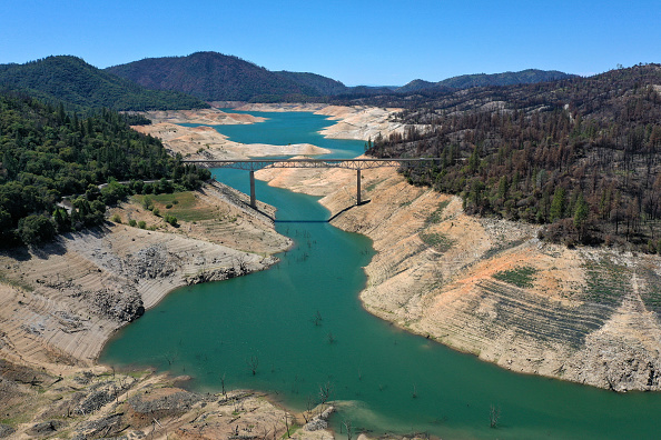 Environment「California's Current Drought Evident By Low Levels In Lake Oroville」:写真・画像(5)[壁紙.com]