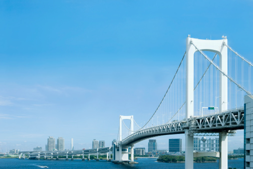 海「Odaiba rainbow bridge」:スマホ壁紙(18)