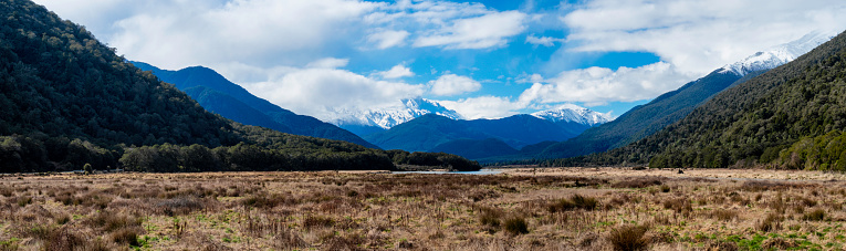 Westland - South Island New Zealand「Haast Pass Landscape Panoramic」:スマホ壁紙(14)