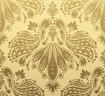 カリグラフィー フローリッシュ「Decorative seamless floral ornament」:スマホ壁紙(19)