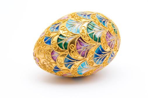 イースター「装飾ゴールドのイースター卵」:スマホ壁紙(10)