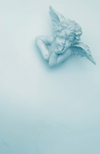 Bust - Sculpture「White angel laying on the floor」:スマホ壁紙(5)