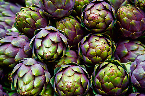 Crop - Plant「full frame of purple italian artichokes」:スマホ壁紙(0)