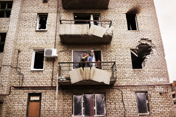 2014 Russian Military Intervention in Ukraine「Residents Of Donetsk Have Largely Fled, As Pro-Russian Rebels Control The City」:写真・画像(4)[壁紙.com]