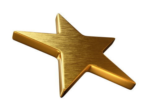 Clip Art「Gold Star in Perspective」:スマホ壁紙(4)