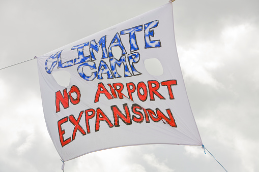 Heathrow Airport「Protest Sign at Climate Camp」:スマホ壁紙(17)