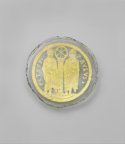 Gold Leaf「Bowl Base With Saints Peter And Paul Flanking A Column With The Christogram Of Christ」:写真・画像(13)[壁紙.com]