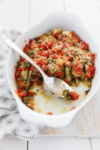 Scalloped - Pattern「Zucchini Tomato Gratin in gratin dish」:スマホ壁紙(4)