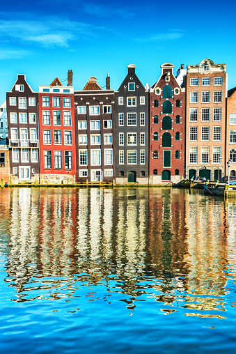 Amsterdam「Typical Dutch Houses in the Center of Amsterdam」:スマホ壁紙(1)