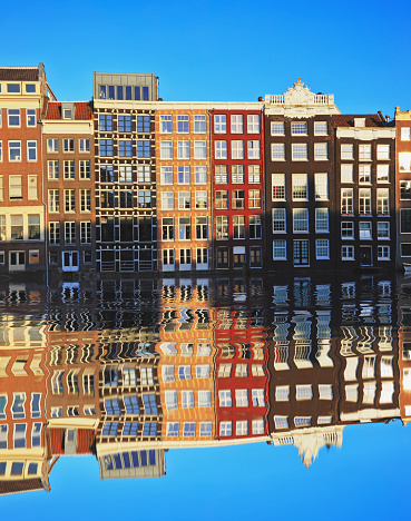 Canal House「Typical Dutch houses built by the canal, Amsterdam, Netherland」:スマホ壁紙(16)