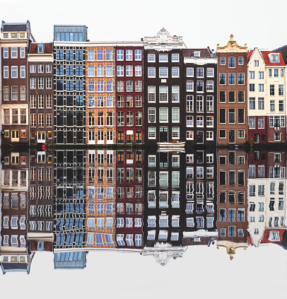 Amsterdam「Typical Dutch houses built by the canal, Amsterdam, Netherlands」:スマホ壁紙(7)