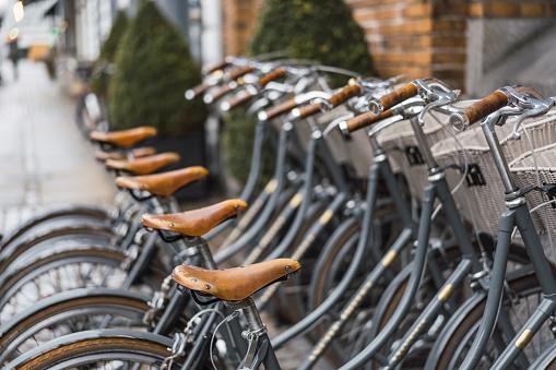Denmark「Denmark, Copenhagen, Row of bicycles」:スマホ壁紙(0)