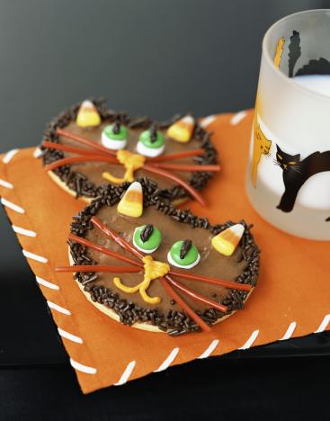 ハロウィン「Halloween cat cookies」:スマホ壁紙(2)