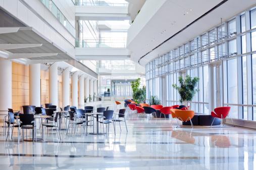 Corporate Business「Futuristic Office Lobby」:スマホ壁紙(8)