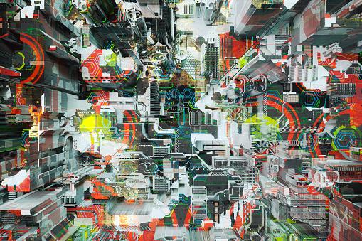 Chaos「Futuristic technology background」:スマホ壁紙(15)
