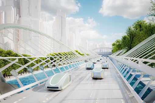 Internet of Things「Futuristic green energy autonomous traffic」:スマホ壁紙(7)