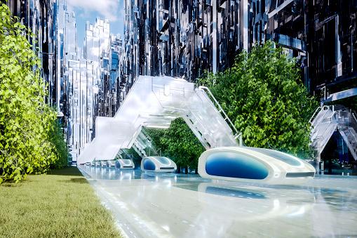 Internet of Things「Futuristic green energy autonomous traffic」:スマホ壁紙(8)