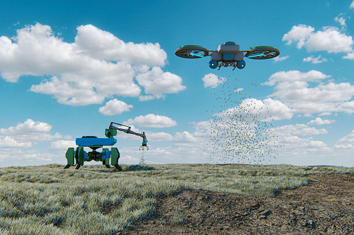 Planting「Futuristic agricultural machinery」:スマホ壁紙(14)