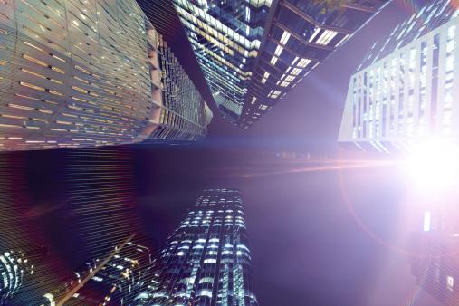 Glittering「Futuristic City」:スマホ壁紙(17)