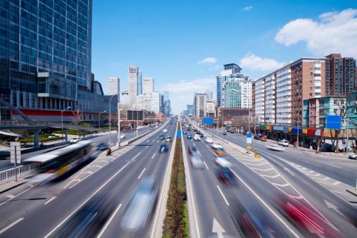 Dividing Line - Road Marking「Futuristic city」:スマホ壁紙(2)