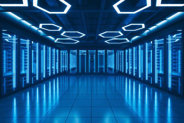 Futuristic Data Center Server Room:スマホ壁紙(壁紙.com)