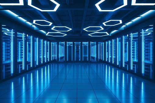 Information Medium「Futuristic Data Center Server Room」:スマホ壁紙(12)